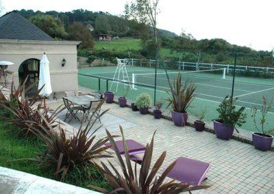 terrasse et court de tennis gîtes tennis deauville