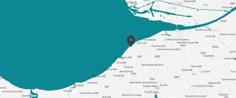 carte localisation hôtel normandie