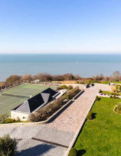 Normandy vue mer tennis