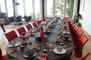 déjeuner salle séminaire deauville vue mer