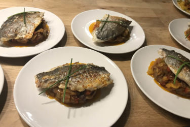 plats poissons cuisinés en séminaire