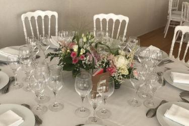 décoration table salle séminaire réceptions